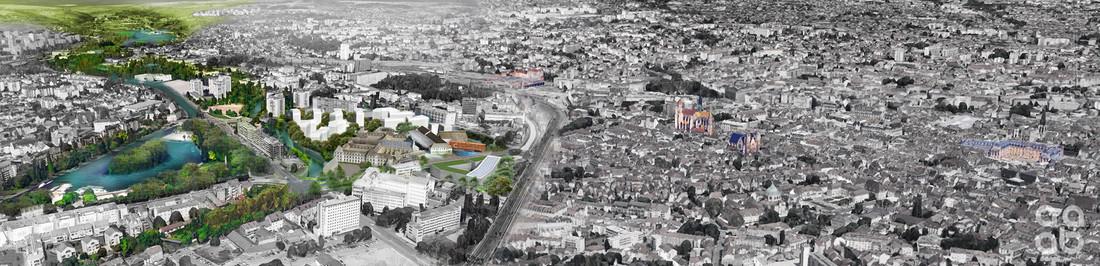 Photo aérienne de la cité de Dijon