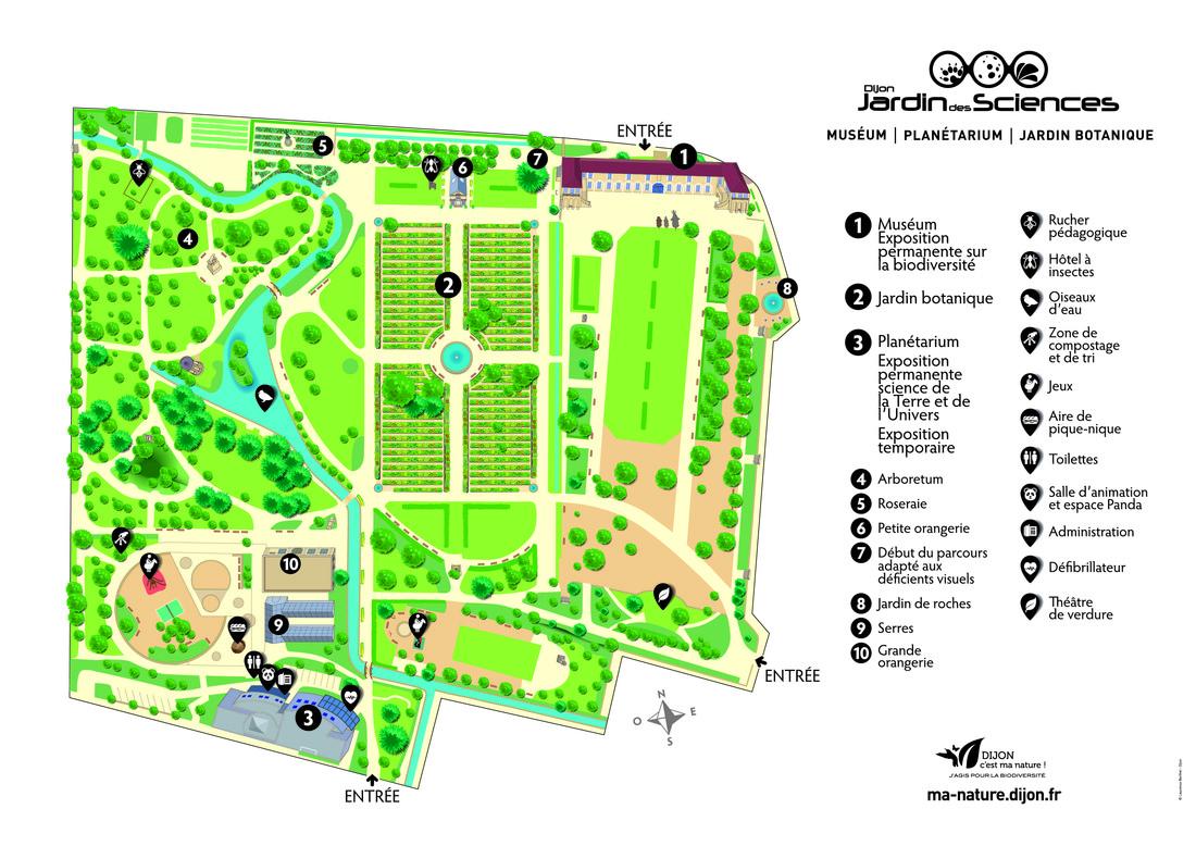 Parc de l 39 arquebuse parcs urbains balades 39 nature - Plan de jardin ...